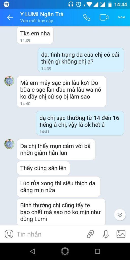 review máy rửa mặt Lumispa -myphamnuskin.vn