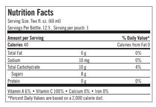 hàm lượng dinh dưỡng trong nước gấc G3