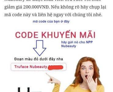 hướng dẫn chương trình khuyến mãi Nubeauty