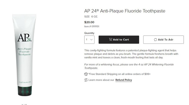 Ap24 Anti-Plaque Fluoride Toothpaste