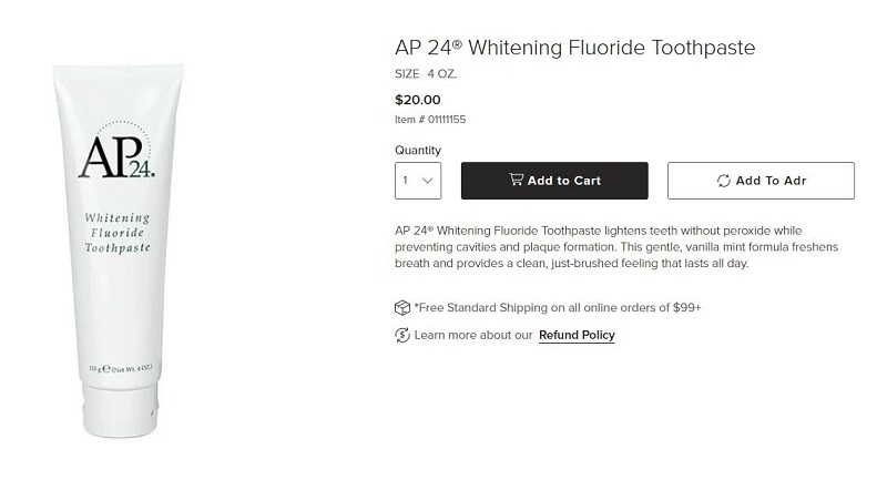 kem đánh răng ap24 whitening fluoride Toothpasste
